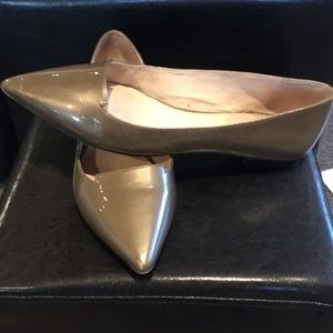 Vince Camuto Bronze Patent Leather Flats